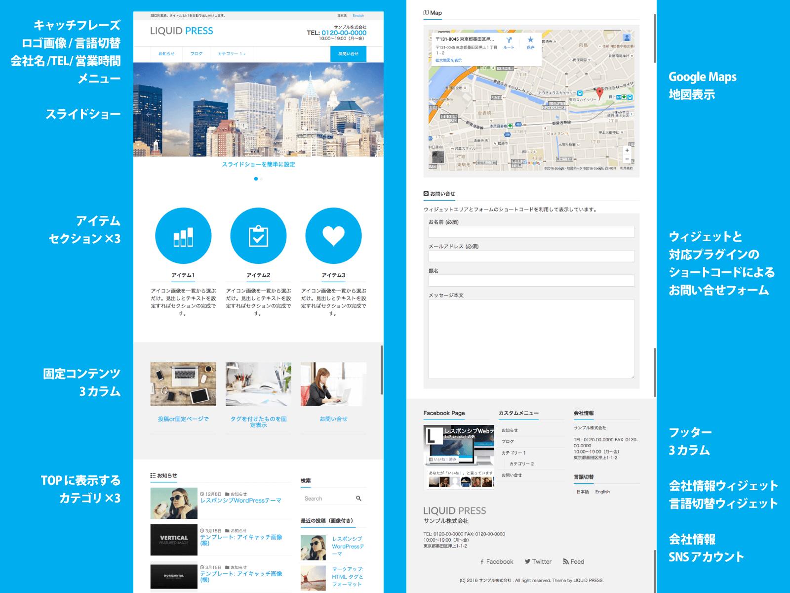WordPress会社情報テーマ